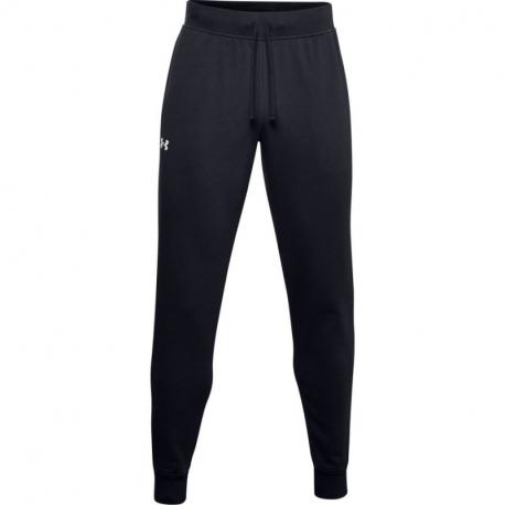 Pánske teplákové nohavice UNDER ARMOUR-UA Rival Cotton Jogger-BLK