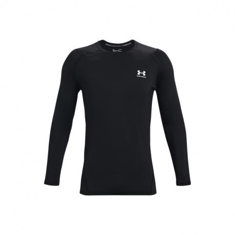 Pánske tréningové tričko s dlhým rukávom UNDER ARMOUR-UA HG Armour Fitted LS-BLK
