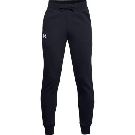 Chlapecké teplákové kalhoty UNDER ARMOUR-UA RIVAL COTTON PANTS-BLK