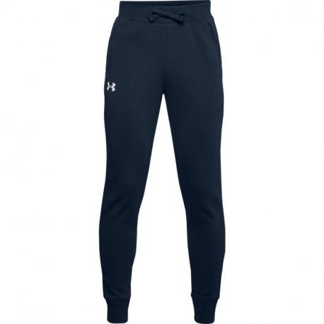 Chlapecké teplákové kalhoty UNDER ARMOUR-UA RIVAL COTTON PANTS-NVY