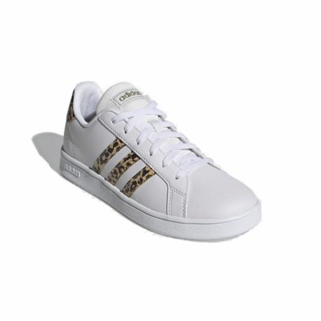 Juniorská rekreační obuv ADIDAS-Grand Court cloud white / cloud white / champagne met