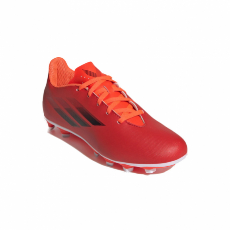 Juniorské futbalové kopačky outdoorové ADIDAS-X Speedflow.4 JR FG red/core black/solar red