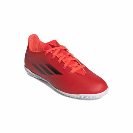Juniorské futbalové kopačky halové ADIDAS-X Speedflow.4 JR IC red/core black/solar red