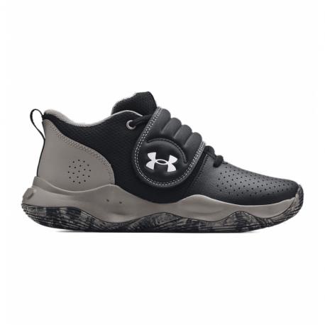 Juniorská vycházková obuv UNDER ARMOUR-GS Zone BB black / concrete / metallic silver