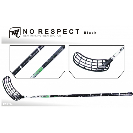 Florbalová hokejka MPS-NO RESPECT Black R