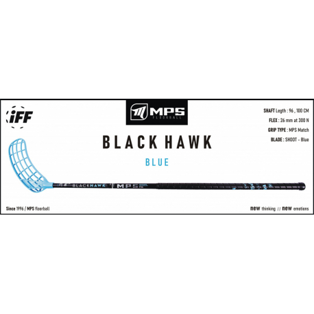 Florbalová hokejka MPS-BLACK HAWK - Blue L