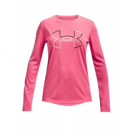 Dievčenské tréningové tričko s dlhým rukávom UNDER ARMOUR-Tech BL LS-PNK