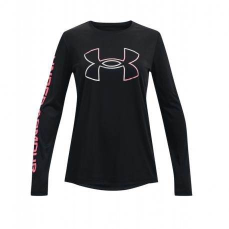 Dievčenské tréningové tričko s dlhým rukávom UNDER ARMOUR-Tech BL LS-BLK