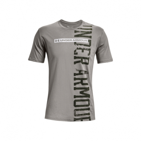 Pánské tréninkové triko s krátkým rukávem UNDER ARMOUR-UA VERTICAL SIGNATURE SS-GRY