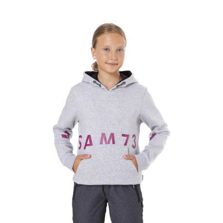 Dievčenská mikina s kapucňou SAM73-DONNA-401-Grey