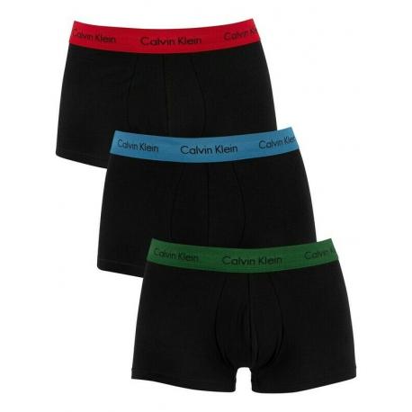 Pánské boxerky CALVIN KLEIN-Boxer shorts gr / rd / bl strp