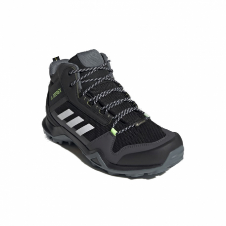 Pánská kotníková turistická obuv ADIDAS-Terrex AX3 MID GTX core black / cloud white / acid yellow