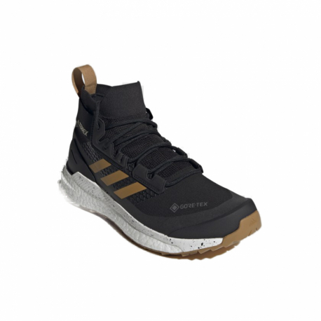 Pánska členková turistická obuv ADIDAS-Terrex Free Hiker GTX core black/grey three/act. orange