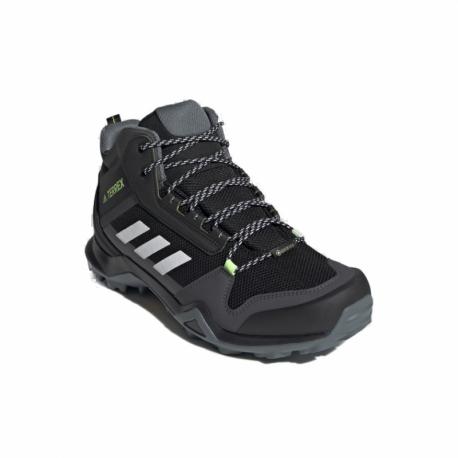 Pánska členková turistická obuv ADIDAS-Terrex AX3 MID GTX core black/cloud white/acid yellow (EX)