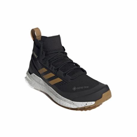 Pánska členková turistická obuv ADIDAS-Terrex Free Hiker GTX core black/grey three/act. orange (EX)
