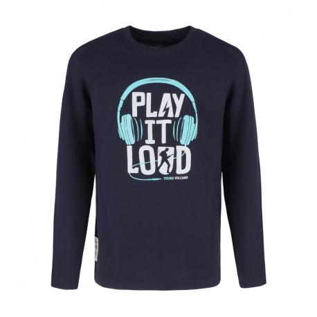 Chlapčenské tričko s dlhým rukávom VOLCANO-LONG L-LOUD JUNIOR-600-NAVY