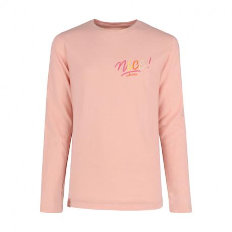 Dievčenské tričko s dlhým rukávom VOLCANO-LONG L-NICE JUNIOR-414-PINK LIGHT