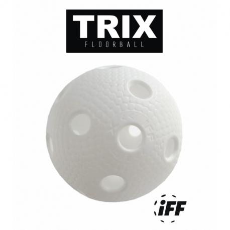 Florbalová loptička MPS-TRIX biela