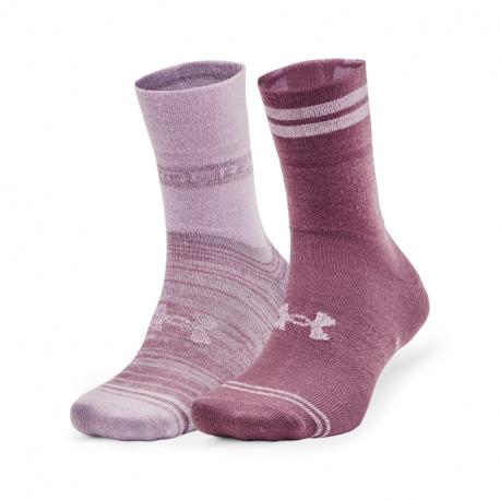 Dámské ponožky UNDER ARMOUR-UA Essential Hi Lo-PNK-2 pack