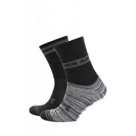 Ponožky UNDER ARMOR-UA Essential Hi Lo-BLK-2 pack