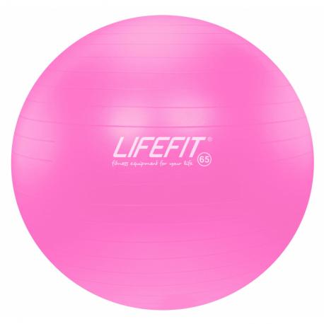 Fitness lopta LIFEFIT-Gym. lopta anti burst, ružová 65 cm TRL