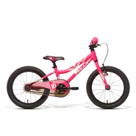Dievčenský horský bicykel AMULET-Fun 16, pink shiny/white shiny, 2022