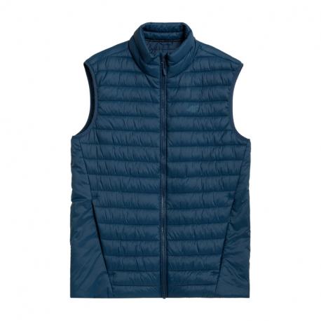 Pánska prešívaná vesta 4F-MENS JACKETS H4Z21-KUMP001-30S-DARK BLUE