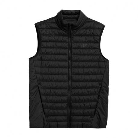 Pánska prešívaná vesta 4F-MENS JACKETS H4Z21-KUMP001-20S-DEEP BLACK