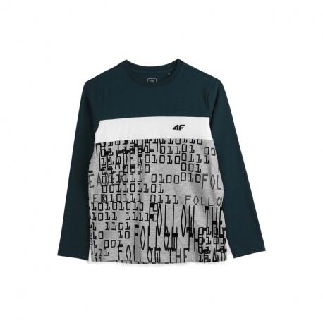 Chlapčenské tričko s dlhým rukávom 4F-BOYS LONGSLEEVE JTSML001-31S-NAVY