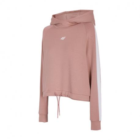 Dámská mikina s kapucí 4F-WOMENS Sweatshirts H4Z21-BLD018-65S-PALE CORAL