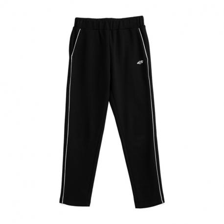 Dívčí teplákové kalhoty 4F-GIRLS TROUSERS JSPDD002-20S-DEEP BLACK
