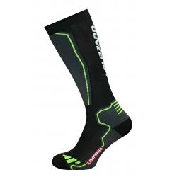 Lyžiarske kompresné podkolienky BLIZZARD Compress 85 ski socks, black/yellow, size 43