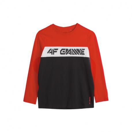 Chlapecké triko s dlouhým rukávem 4F-BOYS LONGSLEEVE JTSML004A-62S-RED