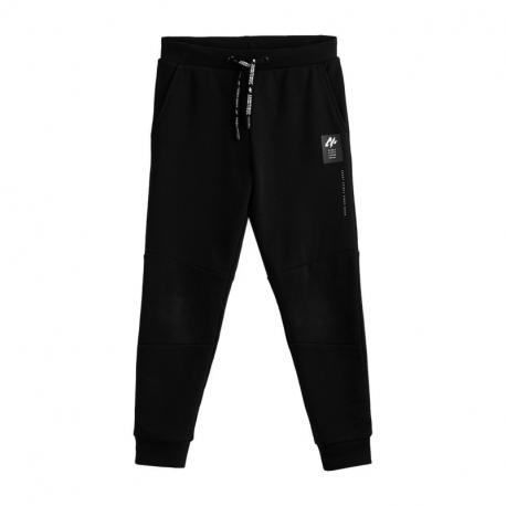 Chlapčenské teplákové nohavice 4F-BOYS TROUSERS JSPMD003A-20S-DEEP BLACK