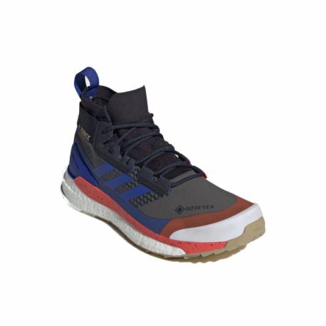 Pánska členková turistická obuv ADIDAS-Terrex Free Hiker GTX grey six/bold blue/legend ink (EX)