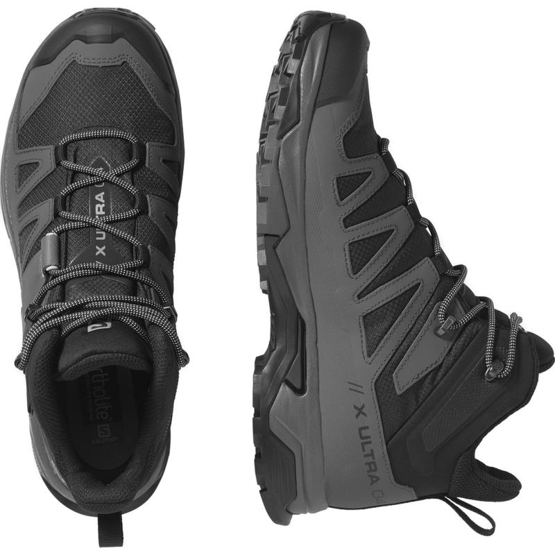 Pánska členková turistická obuv SALOMON-X Ultra 4 Mid GTX black/magnet/pearl blue -