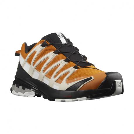 Pánska bežecká trailová obuv SALOMON-XA Pro 3D V8 GTX marmalade/rainy day/white