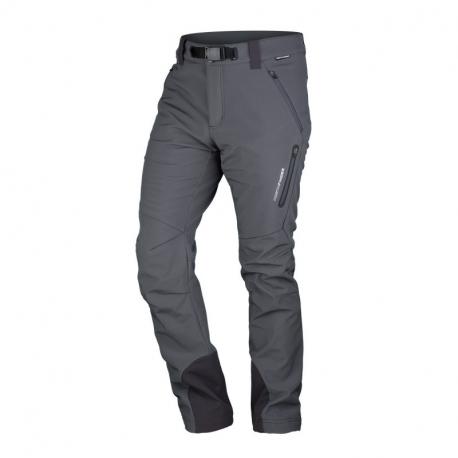 Pánské turistické softshellové kalhoty NORTHFINDER-10K / 5K Javon-grey
