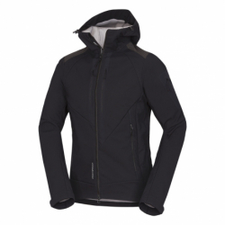 Pánska turistická softshellová bunda NORTHFINDER-3L BARRETT-black