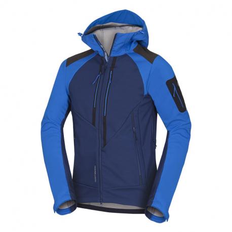 Pánska turistická softshellová bunda NORTHFINDER-3L BARRETT-blueblue