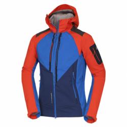 Pánska turistická softshellová bunda NORTHFINDER-3L BARRETT-redblue