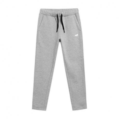 Dívčí teplákové kalhoty 4F-GIRLS TROUSERS JSPDD002A-27M-Grey