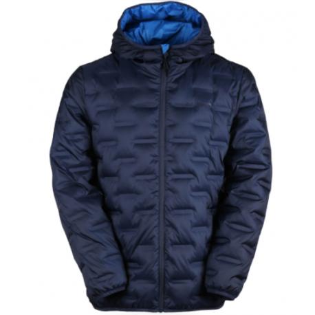 Pánská péřová bunda FUNDANGO-SMOKE Hooded Down Jacket-486 - patriot blue