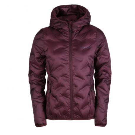 Dámská péřová bunda FUNDANGO-Alše Hooded Down Jacket-398 - aubergine