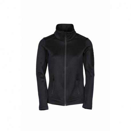 Dámská turistická flísová mikina se zipem FUNDANGO-anti Fleece Jacket-891-black heather