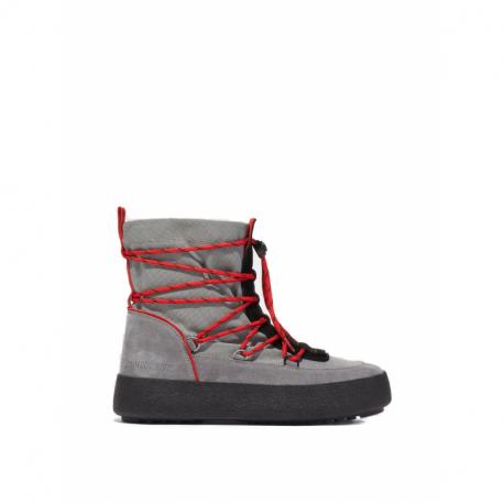 Pánské vysoké zimní boty MOON BOOT-Mtrack Slip-On Sport grey / red