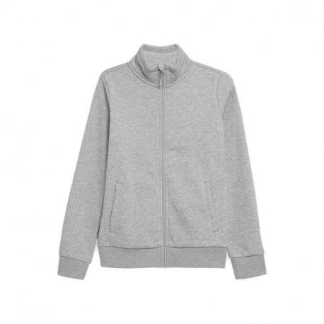 Dámská mikina se zipem 4F-WOMENS Sweatshirts NOSH4-BLD351-27M-Grey