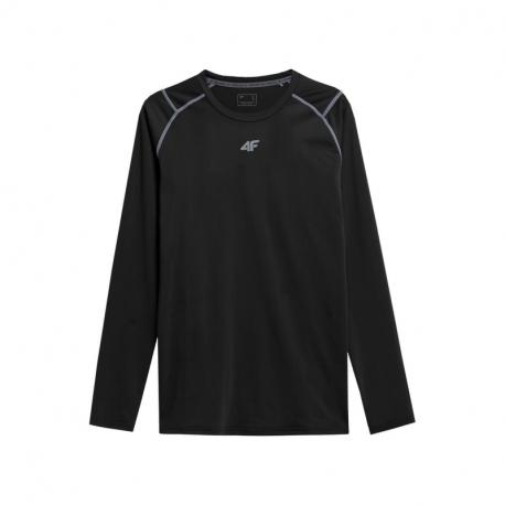 Pánské běžecké tričko s dlouhým rukávem 4F-MENS FUNCTIONAL LONGSLEEVE H4Z21-TSMLF011-20S-DEEP BLACK