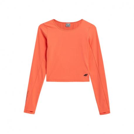 Dámské tréninkové tričko s dlouhým rukávem 4F-WOMENS LONGSLEEVES H4Z21-TSDL013-70N-ORANGE NEON