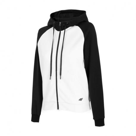 Dámská tréninková mikina se zipem 4F-WOMENS Sweatshirts H4Z21-BLD020-10S-WHITE